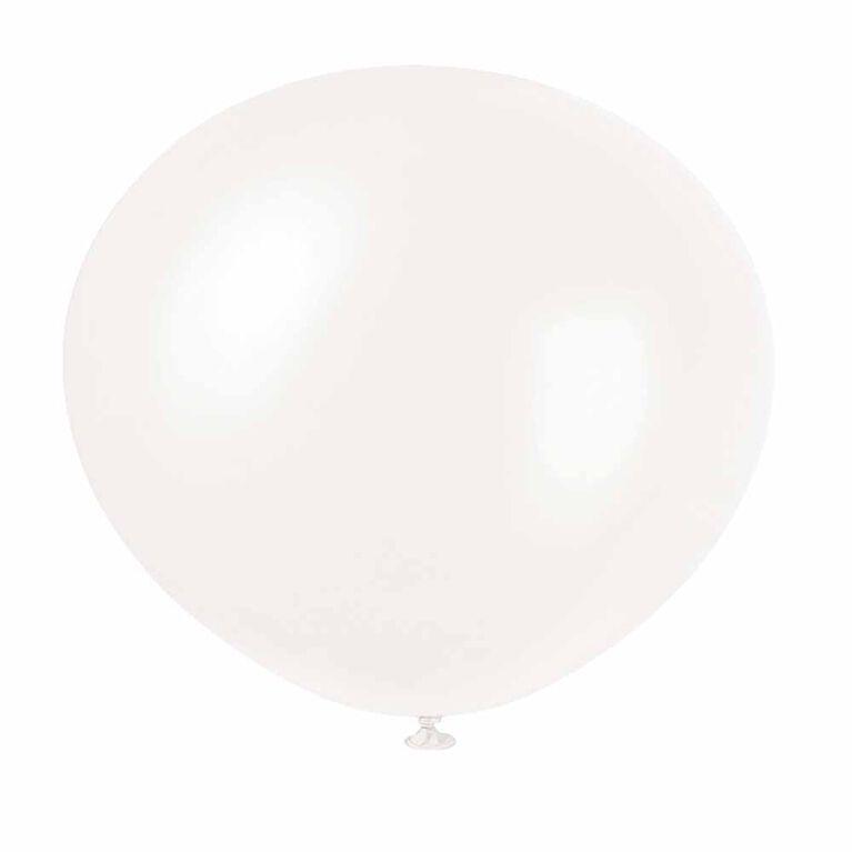8 Ballons Nacres 12 Po - Blanc