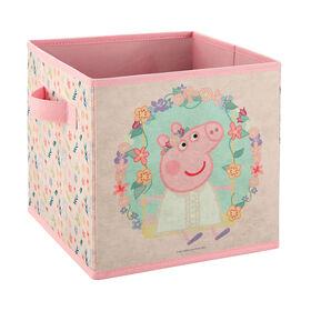 Peppa Pig 9 Inch Soft Storage Bin - Flowers