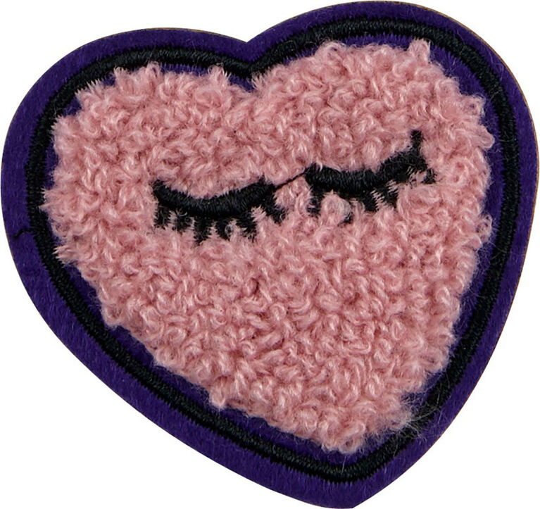 Patches: Icon Pack - Fluffy Star (Pink W/ Purple Back) and Glitter Heart Pink Patches