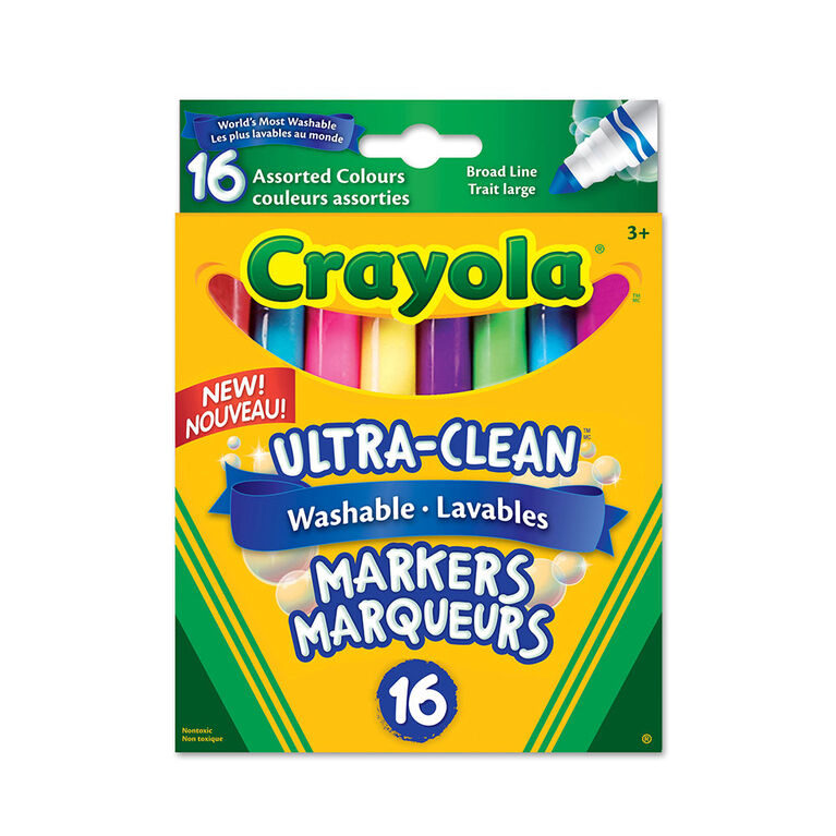 Crayola Ultra-Clean Colossal Broad Line Markers, 16 Ct
