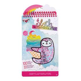 Fashion Angels - Sloth Shaker Compact Portfolio - English Edition