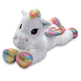 "Snuggle Buddies 31"" Lying Large Dreamy Friend Unicorn Sparkle Spirit - R Exclusive"