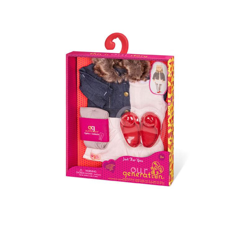 Just Fur You, Our Generation, Tenue de fashionista pour poupées de 18po