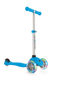 Globber Primo Scooter with Lights - Sky Blue