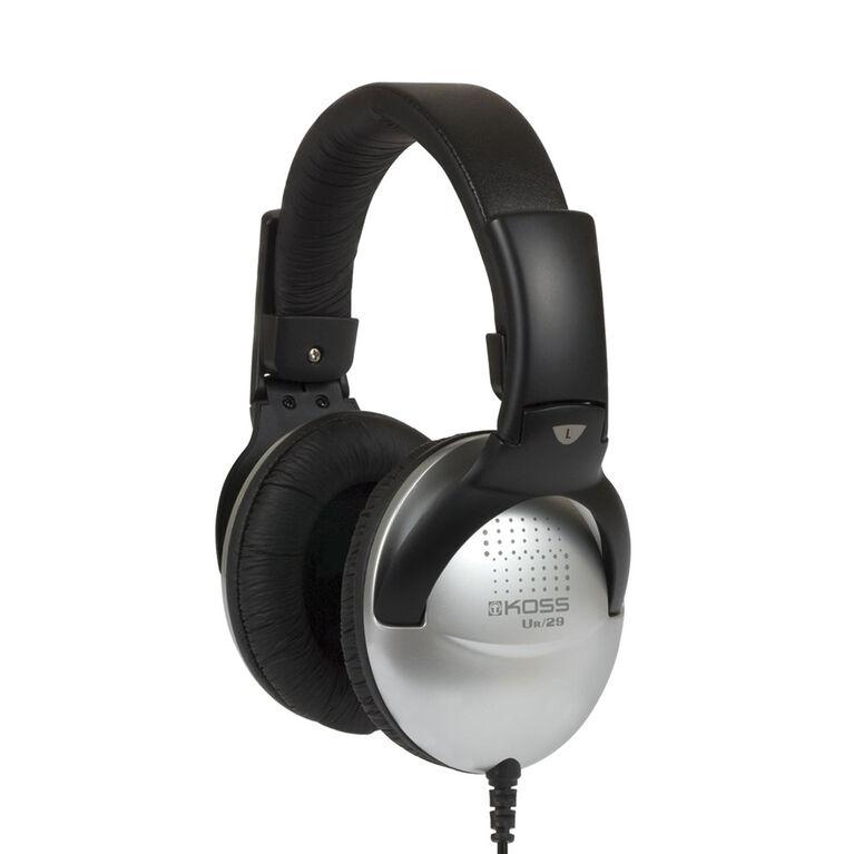 Koss Headphone UR29 Pliable avec contrôle du volume Noir / Argent