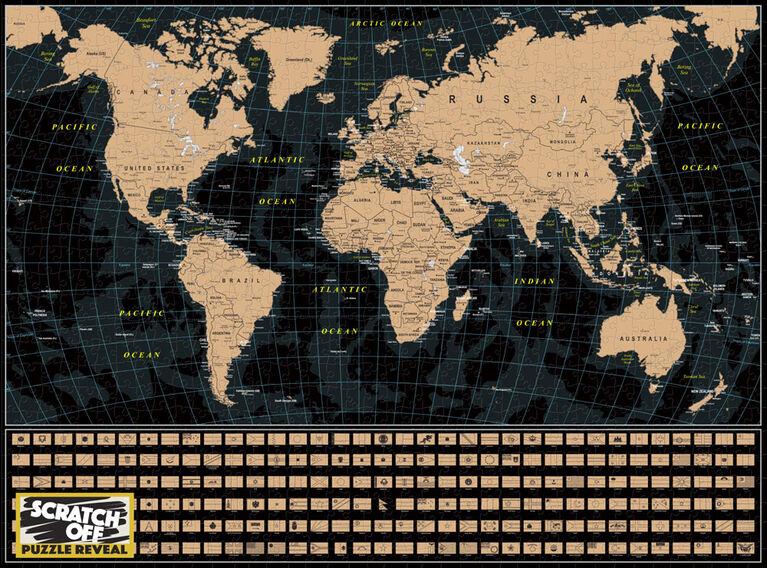 Scratch Off: Map de la World  - 1000 p