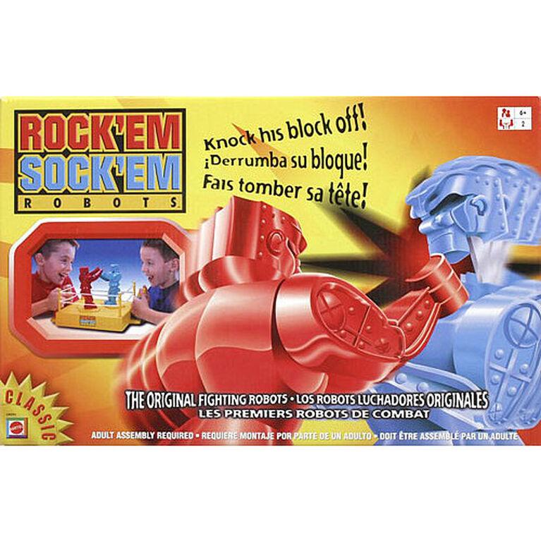 Jeu Rock 'Em Sock 'Em Robots - les motifs peuvent varier