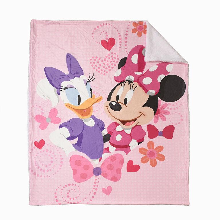 Couverture Sherpa Disney Minnie Mouse, 60 x 80 pouces