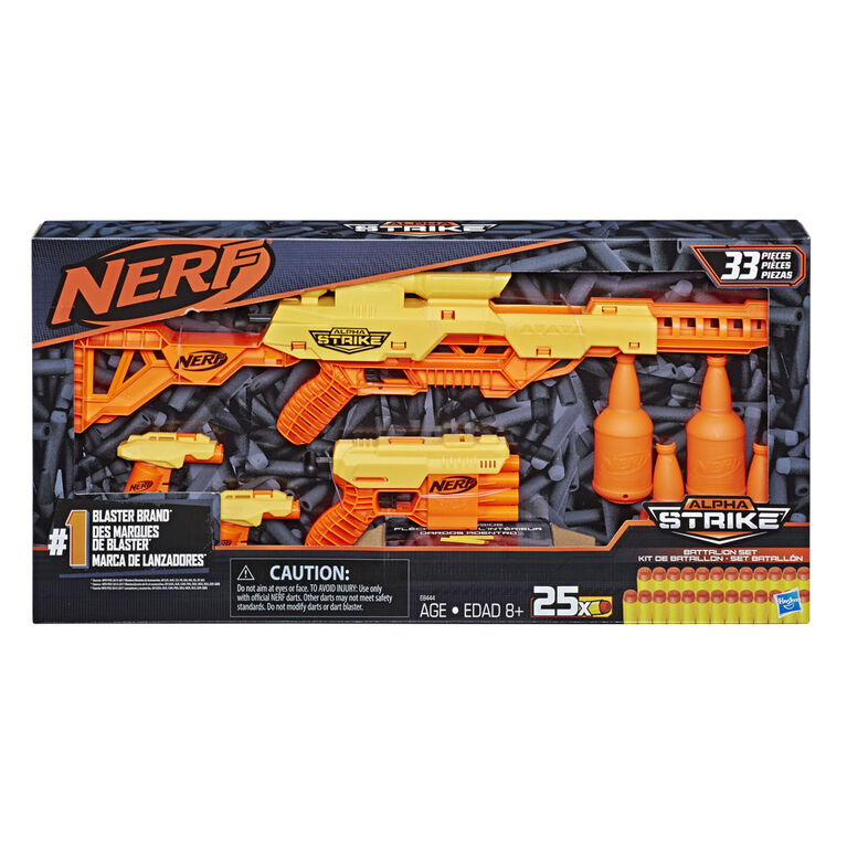 Nerf Alpha Strike - Ensemble Kit de bataillon, de 33 pièces - R Exclusif