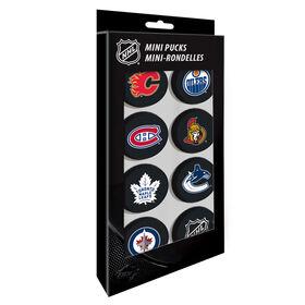 NHL 7 Canadian Teams Mini Pucks Pack