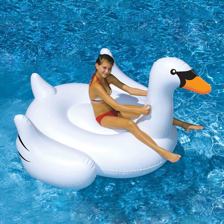 Jouet à chevaucher gonflable de piscine Giant Swan de 1,90 m (75 po)