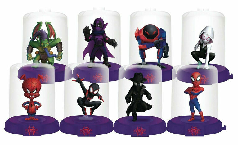 Spider-Man dans Spider-Verse Domez Series 1 - Ensemble de 8 figurines. - Notre Exclusivité