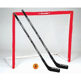 NHL - 46 inch Competition PVC Goal, 2 Sticks and Ball Set