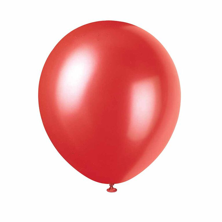 8 Ballons Nacres 12 Po - Rouge Givre