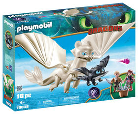 Playmobil - How To Train Your Dragon -  Light Fury with Baby Dragon and Children