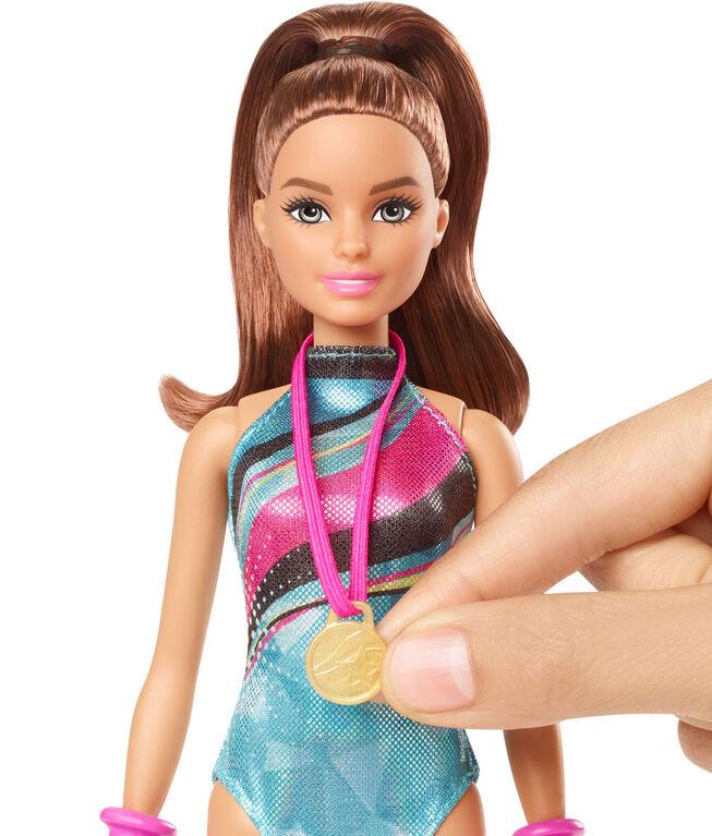 Barbie - Dreamhouse Adventures - Poupée et accessoires - Gymnaste Découverte