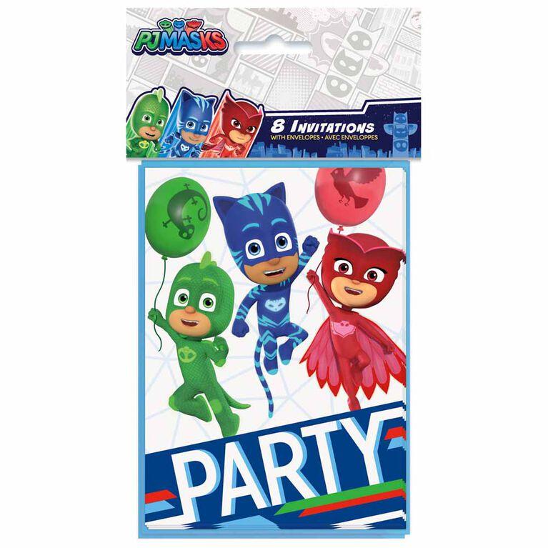 8 Invitations - PJ Masks