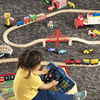 Melissa & Doug - Vroom & Zoom Interactive Wooden Dashboard Steering Wheel Pretend Play Driving Toy