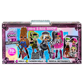 L.O.L. Surprise! O.M.G. Remix Super Surprise – 70+ Surprises, 4 Fashion Dolls & 4 Dolls - PRE-ORDER, SHIPS SEPT 25, 2020