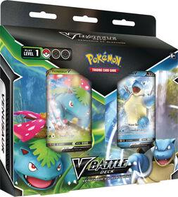 Paquet de decks de combat Pokémon V – Florizarre contre Tortank