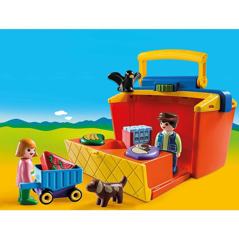 Playmobil 1.2.3. - Take Along Market Stall (9123)
