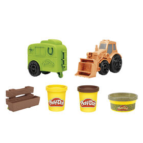 Play-Doh Wheels Tractor Farm Truck Toy for Kids 3 Years and Up