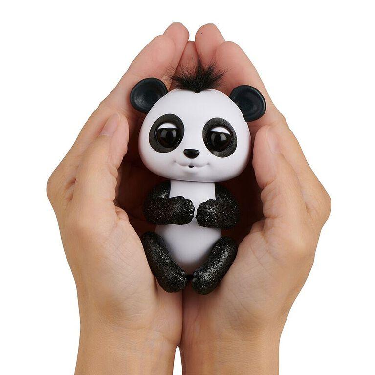 Fingerlings Glitter Panda - Drew (White & Black) - Interactive Collectible Baby Pet