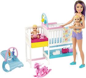 Barbie Skipper Babysitters, Inc. - Nap 'n' Nurture Nursery Dolls and Playset