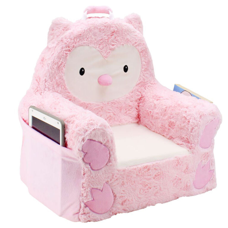 Soft Landing Sweet Seats -  Pink Owl Character Chair