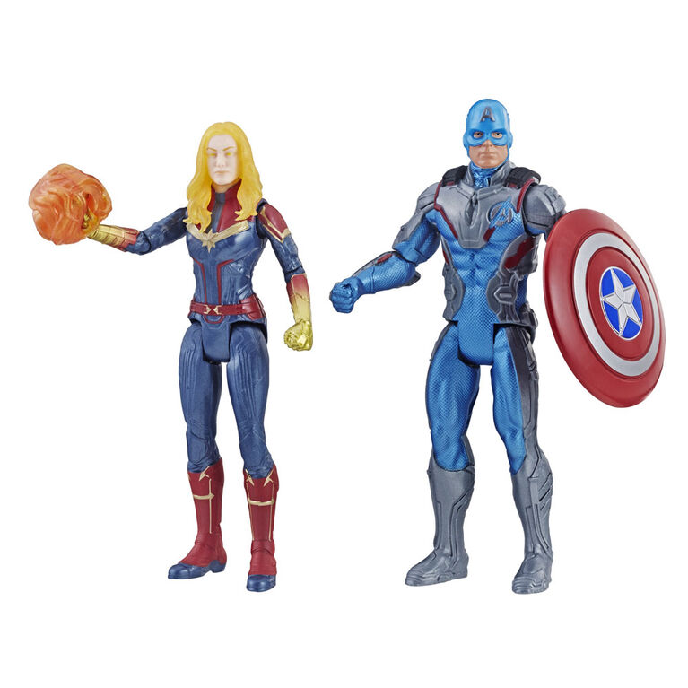 Marvel Avengers : Phase finale Duo de Capitaine America et Capitaine Marvel.