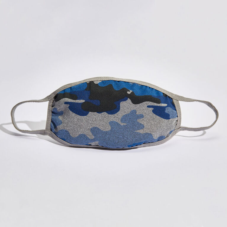 KIDCARE - Cloth Face Mask Everyday 1-pack – Camo Blue