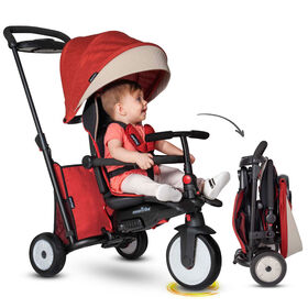 smarTrike STR5 - 7 Stage Folding Stroller Certified Baby Trike - Red