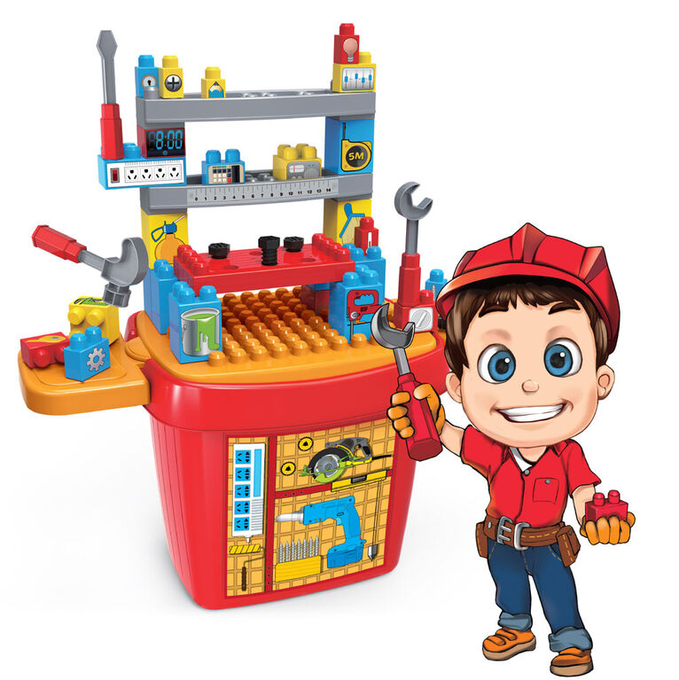 Toy Chef Children's Mini Tool Toy Block Set