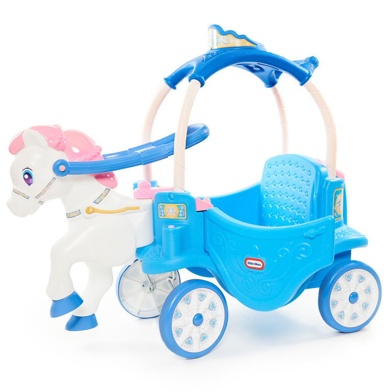 The Little Tikes Princess Horse & Carriage - Frosty Blue