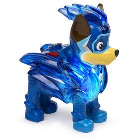 PAW Patrol, Mighty Pups Prêt à foncer, Figurine Chase à collectionner avec uniforme lumineux