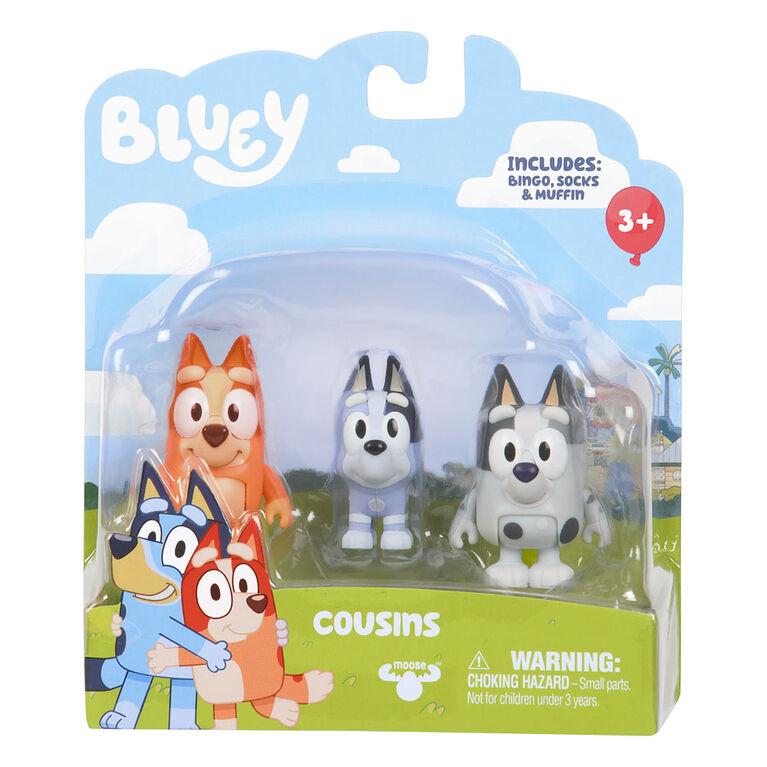 Bluey Figure 2 Pack- Cousins - Bingo Muffin Socks