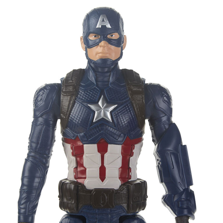 Marvel Avengers: Endgame Titan Hero Series Captain America Action Figure with Titan Hero Power FX Port