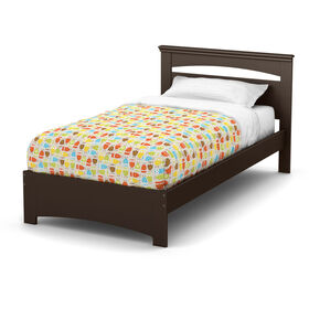 Libra Complete Bed with Headboard- Chocolate