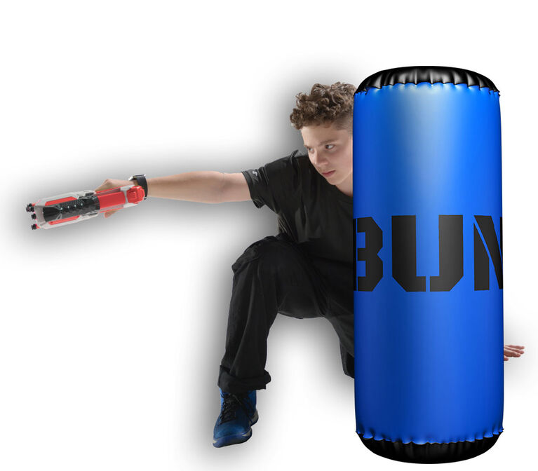 BUNKR Inflatable Blue Barrel for Blaster Battles