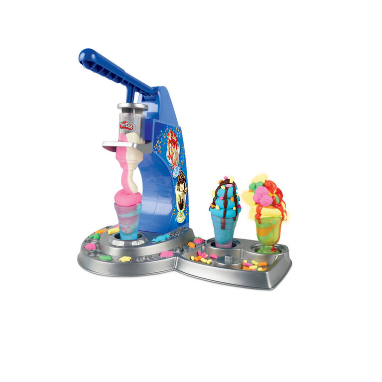 Play-Doh Kitchen Creations: Drizzy Ice Cream Playset Featuring Drizzle Compound and 6 Non-Toxic Play-Doh Colors