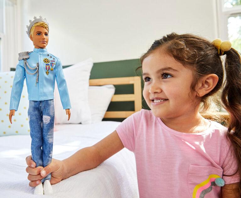 Poupée Prince Ken (30 cm) de Barbie Princess Adventure avec Habillage et Accessoires