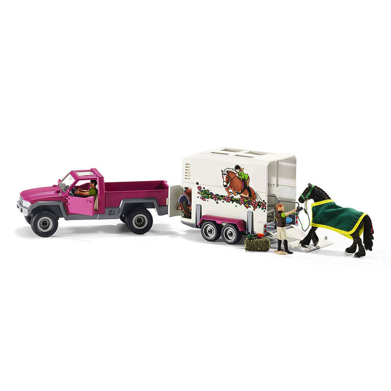 Club Hippique - Ramasser avec trailer cheval