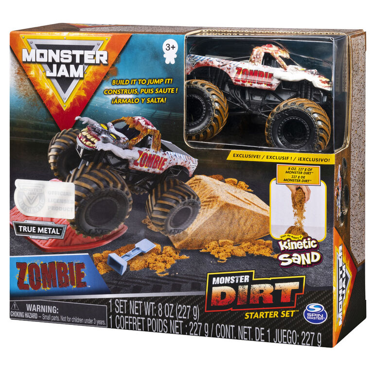 Monster Jam Zombie Monster Dirt Starter Set Featuring 8oz Of Monster Dirt And Official 1 64 Scale Die Cast Monster Jam Truck Toys R Us Canada