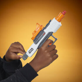 Star Wars Galaxy's Edge First Order Stormtrooper Nerf Blaster - Removable Sight, Tactical Rail, 3 Official Nerf Elite Darts - R Exclusive