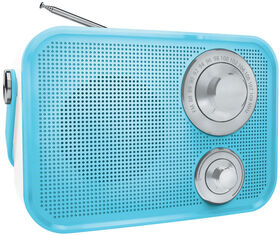 Polaroid Retro Wireless FM Radio And Bluetooth Speaker - Blue