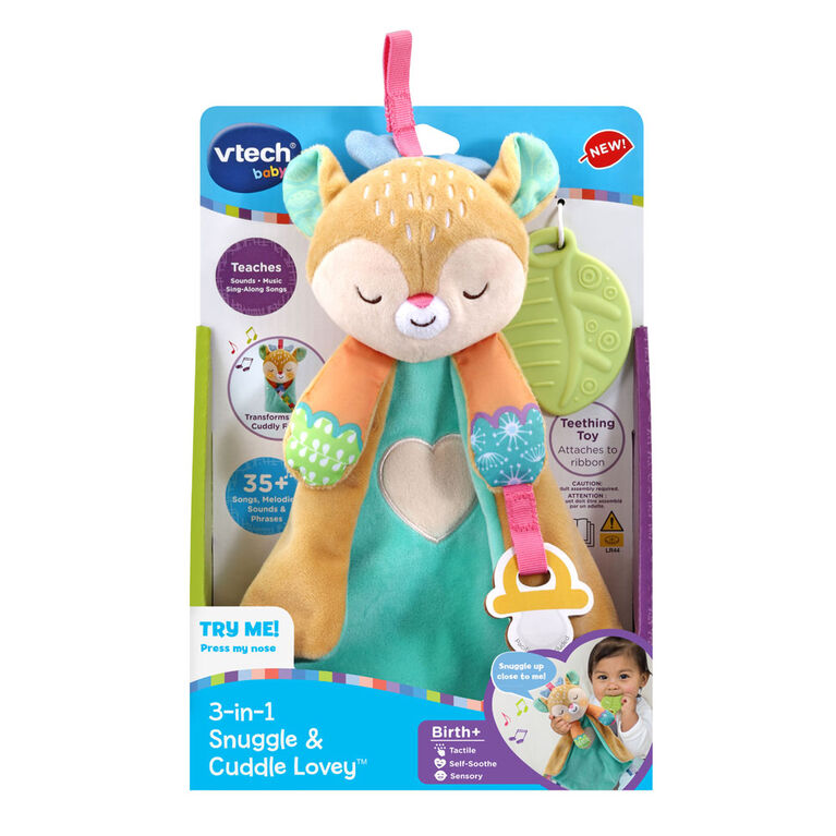 Vtech 3-In-1 Snuggle & Cuddle Lovey - English Edition