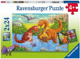 Ravensburger - Dinosaurs at Play Puzzle 2 x 24pc