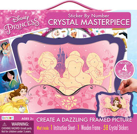 Disney Princess Sticker by Number Crystal Masterpiece