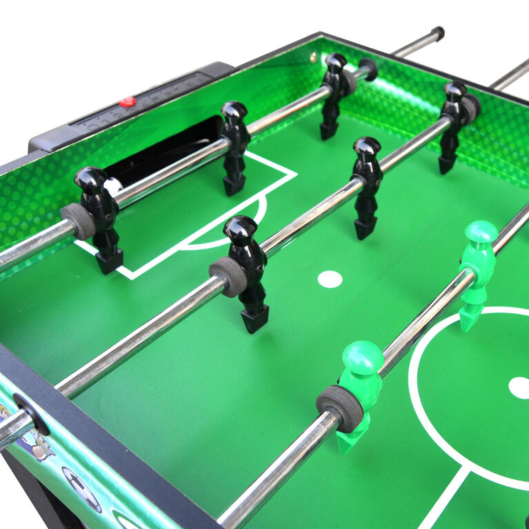Table de baby-foot multi jeux Playmaker 3-en-un