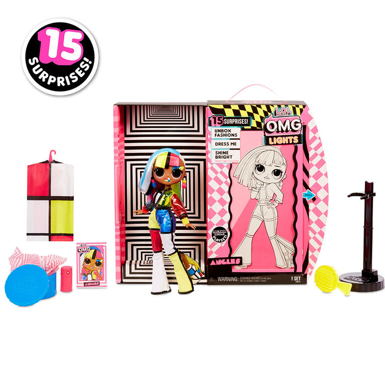 L.O.L. Surprise! O.M.G. Lights Angles Fashion Doll with 15 Surprises